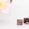 10mm cocobolo ear studs - Woodcraft by Owen