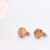 10mm zebrano ear studs - Woodcraft by Owen