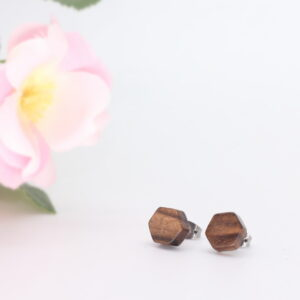 10mm walnut ear studs - Woodcraft by Owen