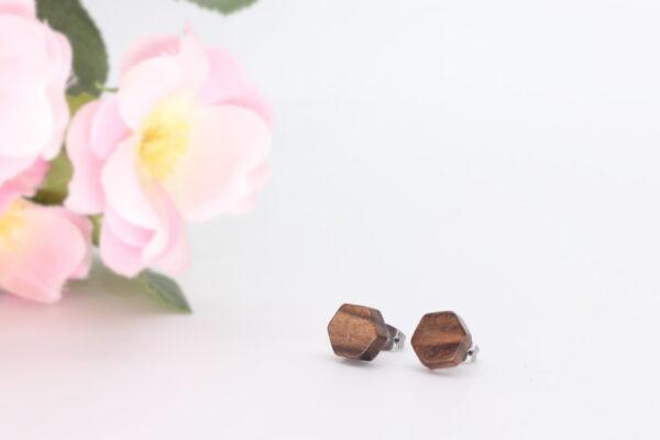 10mm walnut ear studs - Woodcraft by Owen